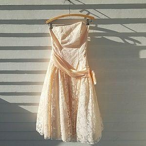 Vintage ZumZum Formal Prom Dress 1980s